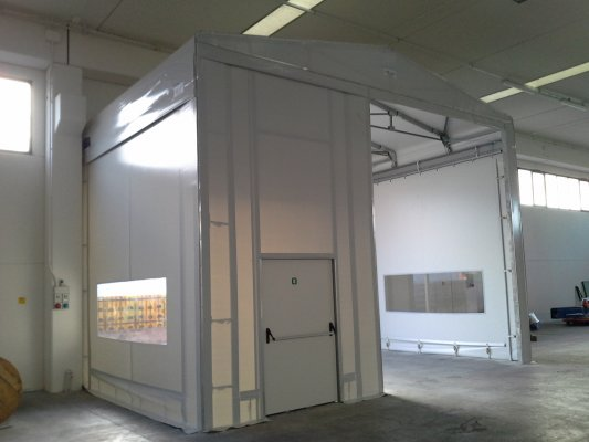 TUNNEL Frontale funzione BUSSOLA con porta pedonale